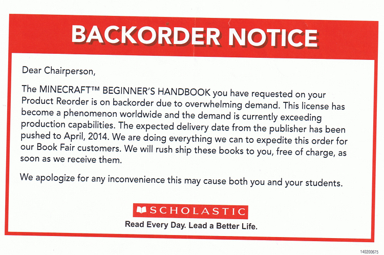 minecraft-handbook-delay-notice
